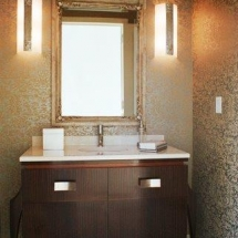 French Deco Powder Room